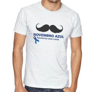 Camiseta Camisa Bigode Novembro Azul