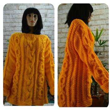 Blusa De Trico oversize Amarela