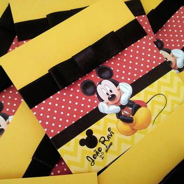 Convite para aniversário infantil Mickey