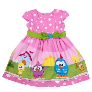 Vestido Infantil Galinha Mini