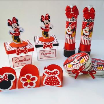 Kit Festa Minnie Vermelha c/ 75 peças