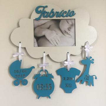 Nuvem Porta Retrato de Dados de Nascimento do Bebê