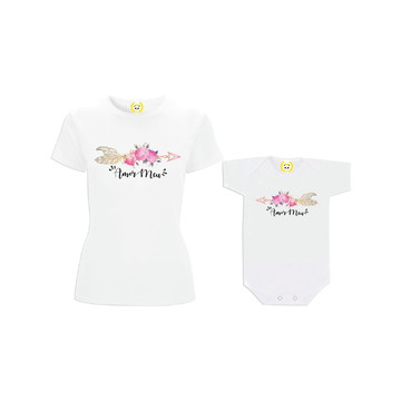 Kit Camiseta Boho Amor Meu Flecha de Rosas