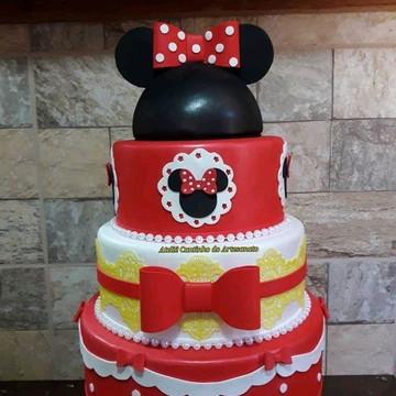 BOLO Fake Minnie Vermelha