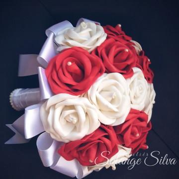 Buquê de noiva Branco e vermelho