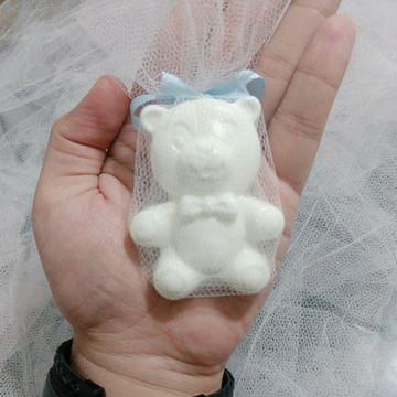 Lembrancinha Ursinho Branco no tule