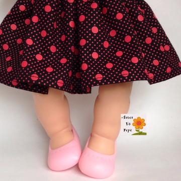 0bd086db2a Sapatilha para boneca. (6cm)