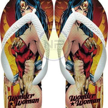 Chinelo Havaianas Personalizados Wonder Woman
