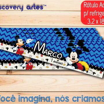 Rótulo Adesivo Refrigerante Mickey