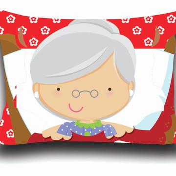 Almofada personalizada Chapeuzinho Vermelho - Vovó
