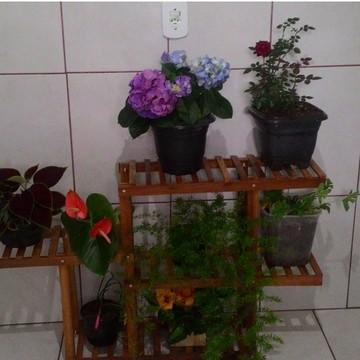 Floreira jardim vertical sustentável para flores 8 lugares