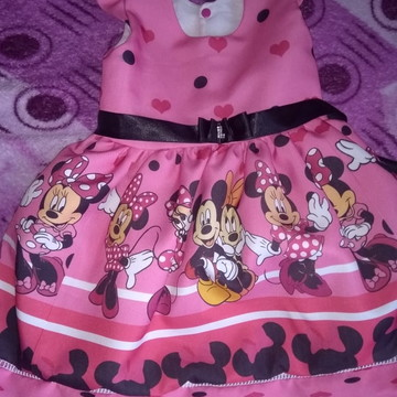 vestido tematico minnie pink