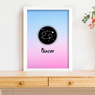 Quadro Decorativo Com Moldura - Signo Câncer