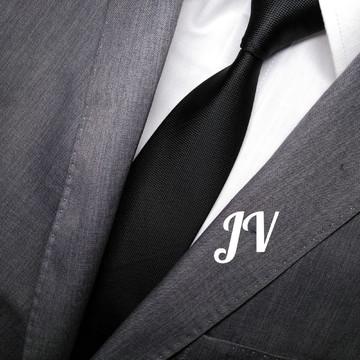 Gravata Preta com Detalhes - Slim