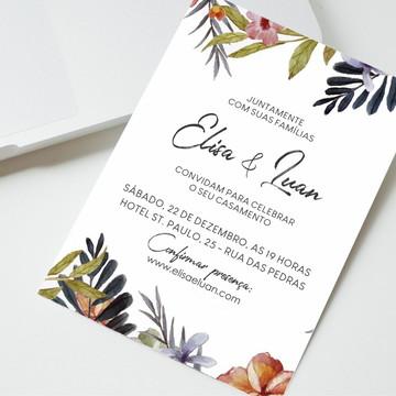 Convite Digital Casamento Flores
