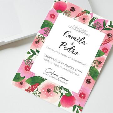 Convite Digital Casamento Rosas
