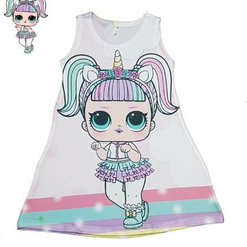 1622e3070 Vestido Infantil Lol Unicornio | Elo7