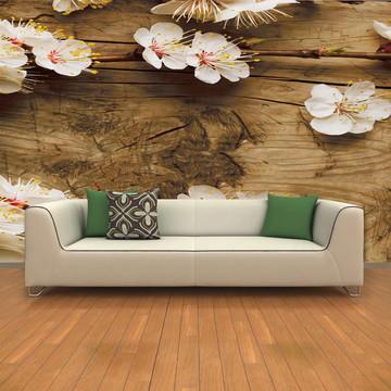 Papel de Parede para Sala Flores 0008 - Papel de Parede 3D
