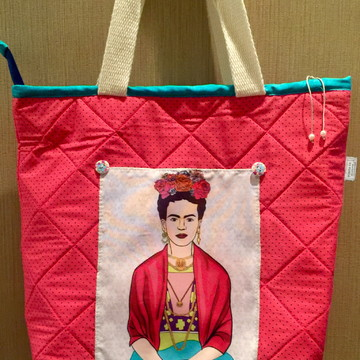 Bolsa estilo sacola Frida Kahlo