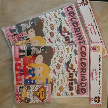 Livro de colorir Superhero girls