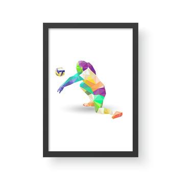 Quadro Esporte 10 - Volei