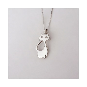 colar de prata • GATO • filhote