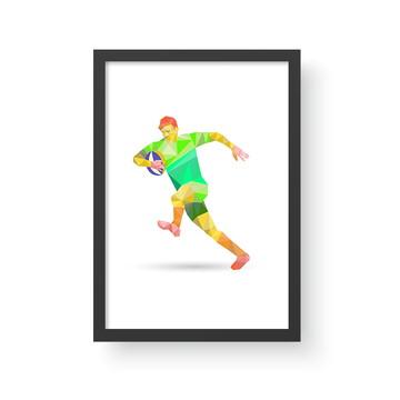 Quadro Esporte 3 - Rugby - A3