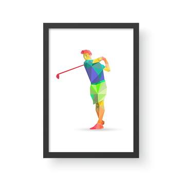 Quadro Esporte 7 - Golf - A3