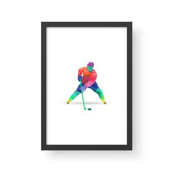 Quadro Esporte 9 - Hockey - A3