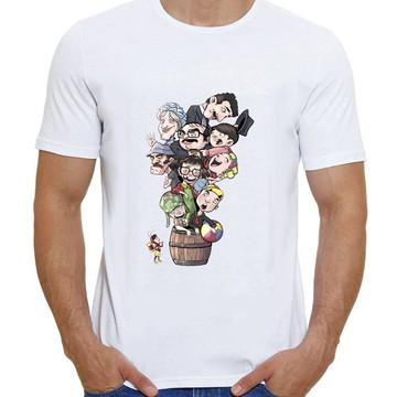 Camiseta Turma Do Chaves No Barril Chaves Kiko Chiquinha