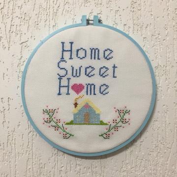 Home sweet Home em ponto cruz
