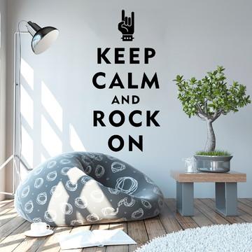 Adesivo de Parede - Keep Calm And Rock On