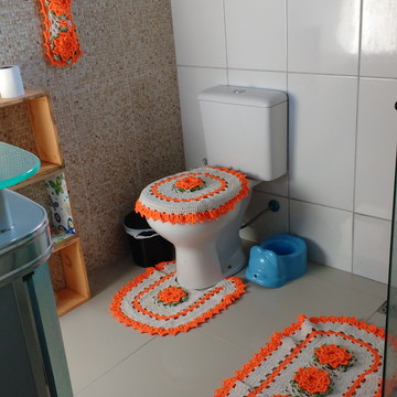 Jogo de banheiro flor de laranjeira