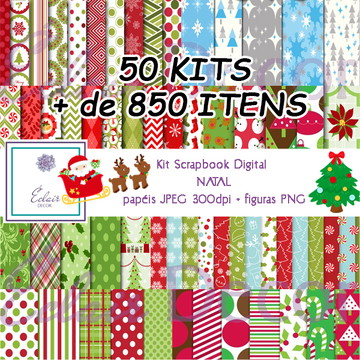 Kit Scrapbook Digital NATAL