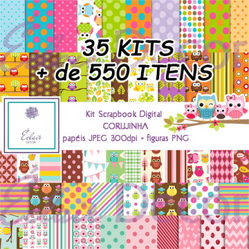 Kit Scrapbook Digital CORUJINHA