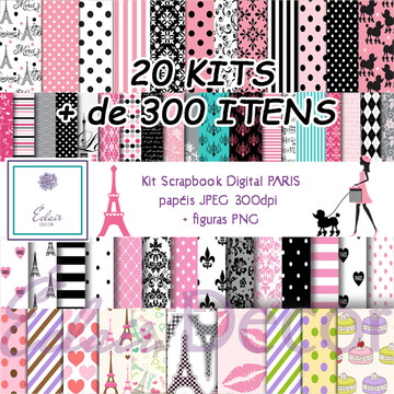 Kit Scrapbook Digital PARIS