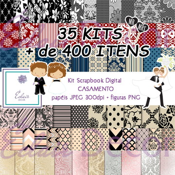 Kit Scrapbook Digital CASAMENTO