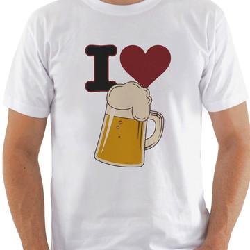 Camiseta masculina Amo Cerveja