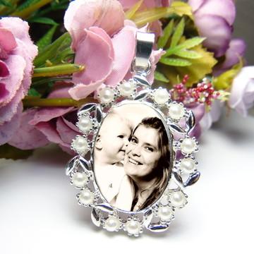 Medalha Relicario para buque de noiva