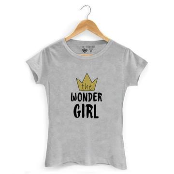 Camiseta Feminina Wonder Girl Coroa Camiseta Wonder