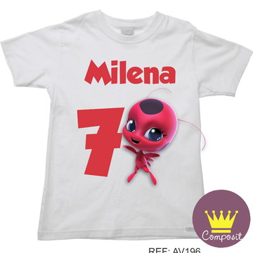 Camiseta Miraculous tikki Aniversario