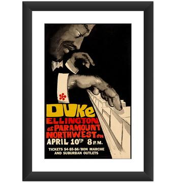 Quadro Duke Ellington Jazz Musica Arte Poster Retro Decorar