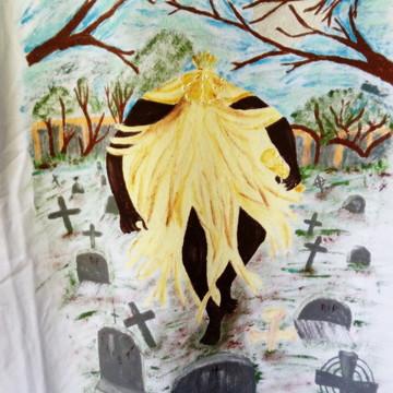 Camiseta Pintada á Mão Obaluaê / Omulú