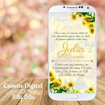 Convite Digital Girassol