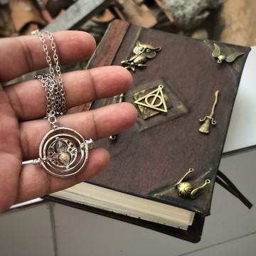 Diário Harry Potter Vintage Couro