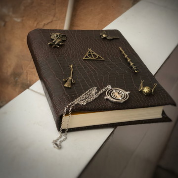 Sketchbook Harry Potter Vintage Couro