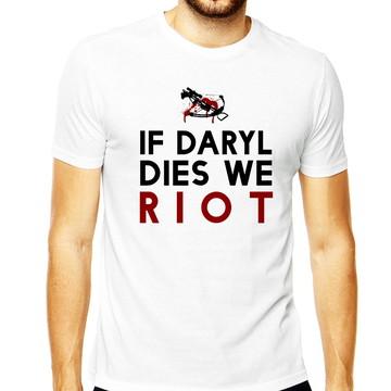 Camiseta Masculina Dies Riot Daryl Walking Dead