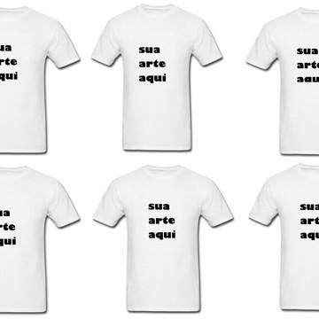 kit com 6 camisetas personalizadas com sua arte, foto , fras