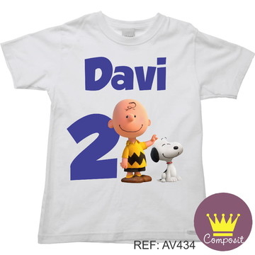 Camiseta Charlie Brown Snoop Aniversario
