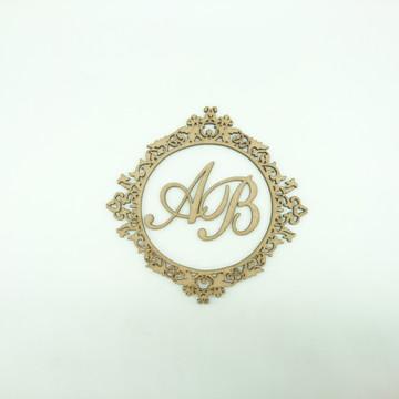 Brasão Monograma para Caixinha Lembrança de Casamento - BM02